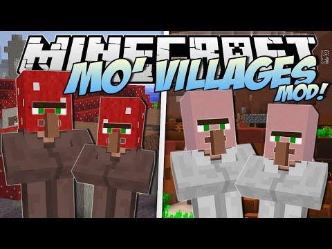 Minecraft | MO' VILLAGES MOD! (Mushroom, Mesa, Snow & More!) | Mod Showcase