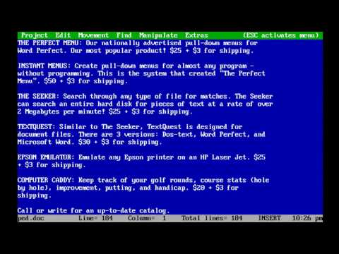 wordperfect for dos download