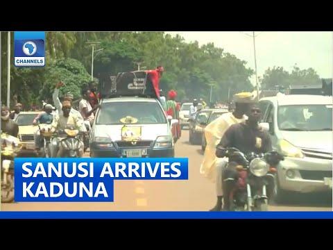 Ex-Kano Emir Sanusi Arrives Kaduna In First Visit To North After Deposition