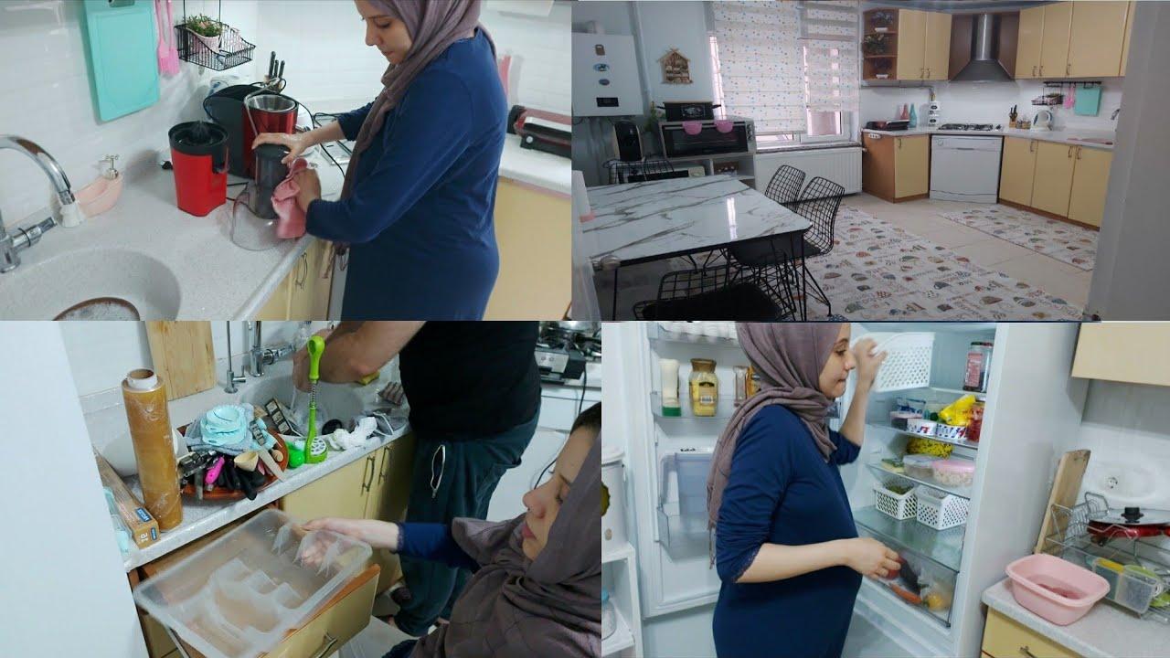 تنظيف عميق للمطبخ قبل الولادة💪،لفيا مهناني، دود قرب يخرج من الكوزينة لهلا يخطينا صحة