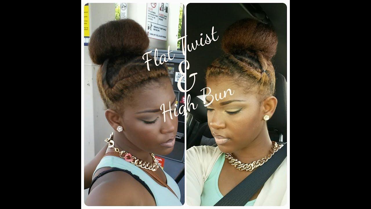 Natural Hairstyle Flat Twist Amp Bun Youtube