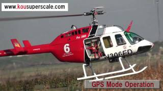 Kousuperscale Bell206L turbine with GPS 2.5m