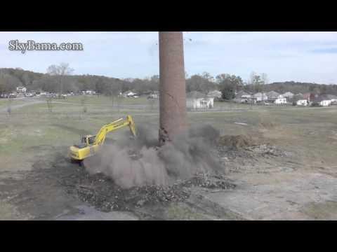 Avondale Mills Smokestack WTF BOOM!