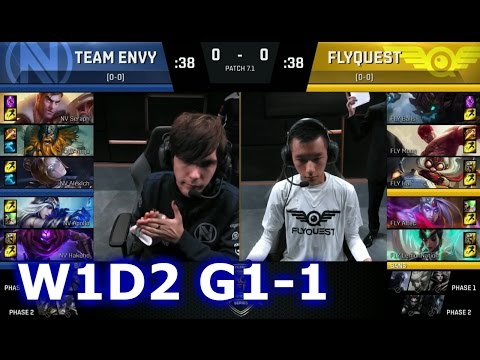 Team EnVyUs vs FlyQuest Game 1 | S7 NA LCS Spring 2017 Week 1 Day 1 | NV vs FLY G1 W1D2 1080p
