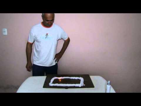 TREN DE FUEGO (experimento de quimica) - TRAIN FIRE (chemistry experiment)