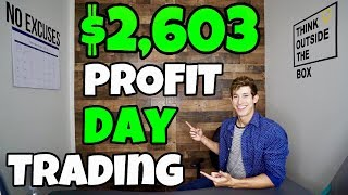 $2,603 Profit Day Trading Natural Gas ETF