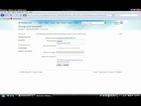 How To Change Your Hotmail Password