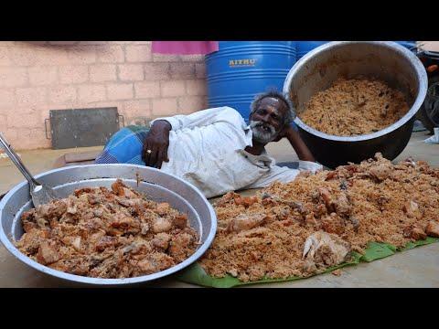 KING of BIRYANI !!! Prepared by my Daddy ARUMUGAM / 100 People / Village food factory