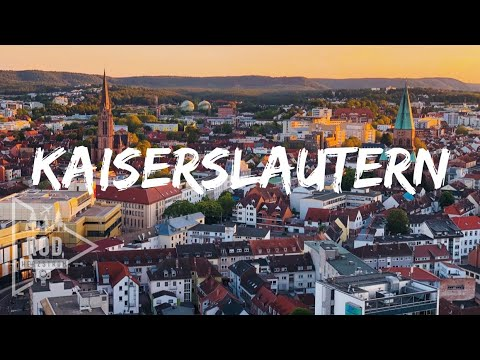 Kaiserslautern, Germany from the air + drone + PinkFloyd