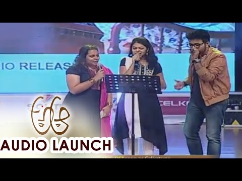 Rang De Song Live Performance at A Aa Audio Launch || Nithiin, Samantha