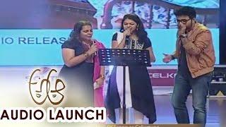 Rang De Song Live Performance at A Aa Audio Launch || Nithiin, Samantha