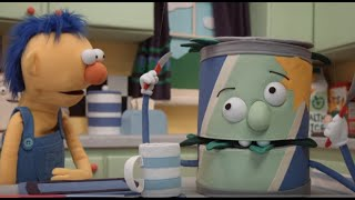"the spinach can from DHMIS 5 goes ""Doo doo doo doo"" for 1 minute"