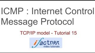 icmp internet control message protocol in hindi urdu tcp ip model tutorial 15