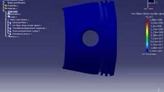 Analisis de elemento finito de piston usando CATIA