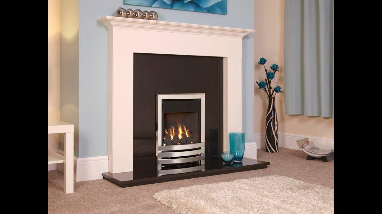 flavel linear plus high efficiency gas fire youtube