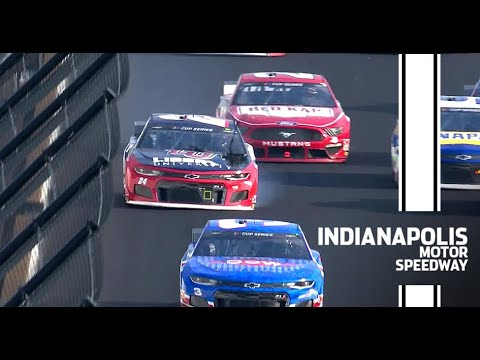 Trouble strikes Byron while leading at Indianapolis | NASCAR Cup Series
