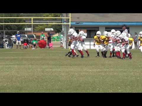 Hornets Football 2012 - #1 Game vs Bullets - Jesek Run - (Jen w / camera)