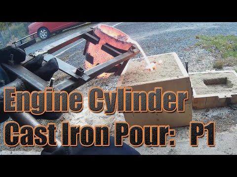 Steam Engine Build: Cast Iron Engine Cylinder Pour : Part 1