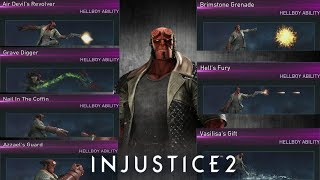 Injustice 2: Hellboy All Unlockable Abilities
