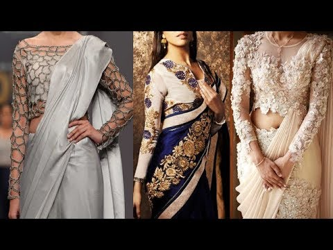 2ab77ddcb854f8 Designer Top Most Stylish Long Sleeves Blouse Designs For Saree ...