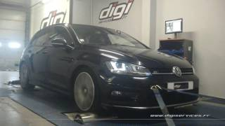 VW Golf 7 2.0 tdi 150cv Reprogrammation Moteur @ 190cv Digiservices Paris 77 Dyno