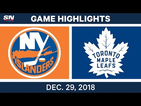 NHL Highlights | Islanders vs. Maple Leafs - Dec 29, 2018
