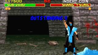 Mortal Kombat (Arcade) Shang Tsung defeated glitch #2 Sub-zero