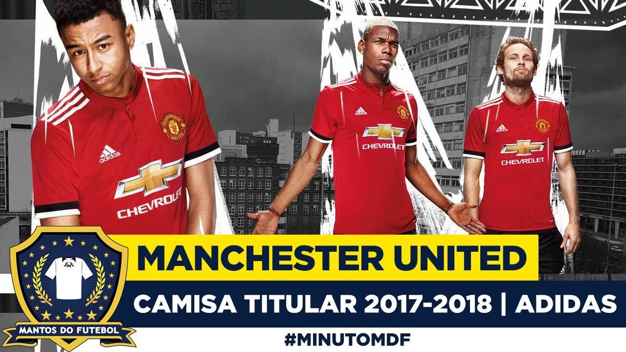 949660631b 😈 Camisa do Manchester United 2017-2018 Adidas - YouTube