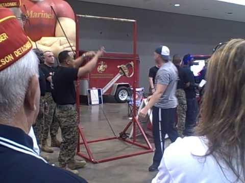 tattoo chassity watches   hot marines  pull ups!!at pre senior bowl