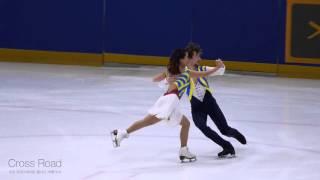 민유라 & 알렉산더 겜린 Yu-ra MIN & Alexander GAMELIN   SD   2016-01-09 종합선수권 2일차   아이스댄스 시니어 2