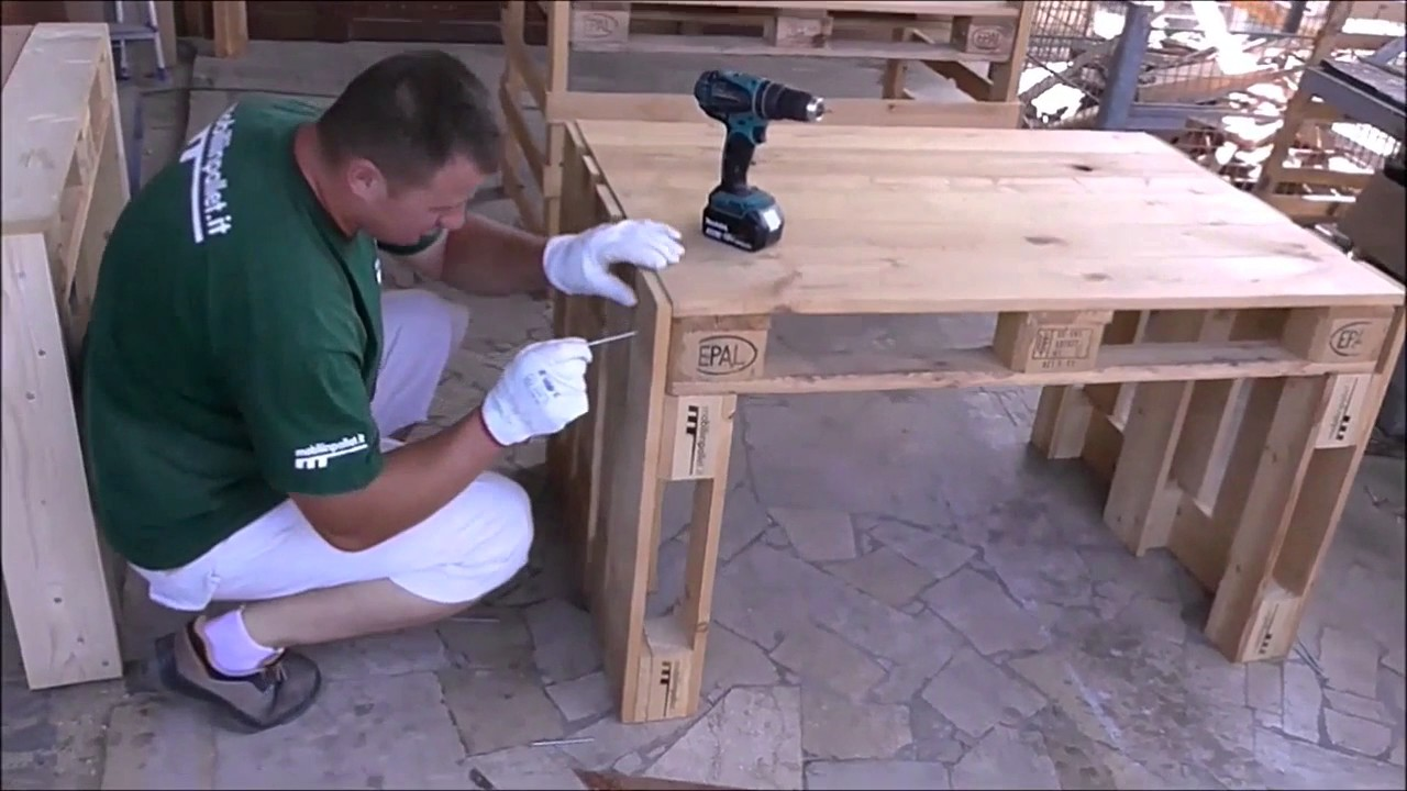Eccezionale Assembly pallet Desk - YouTube SF17