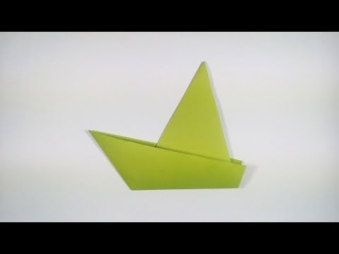 How to Make a Very Easy Origami Sailboat | Traditional Paper Sailboat Folding Instructions