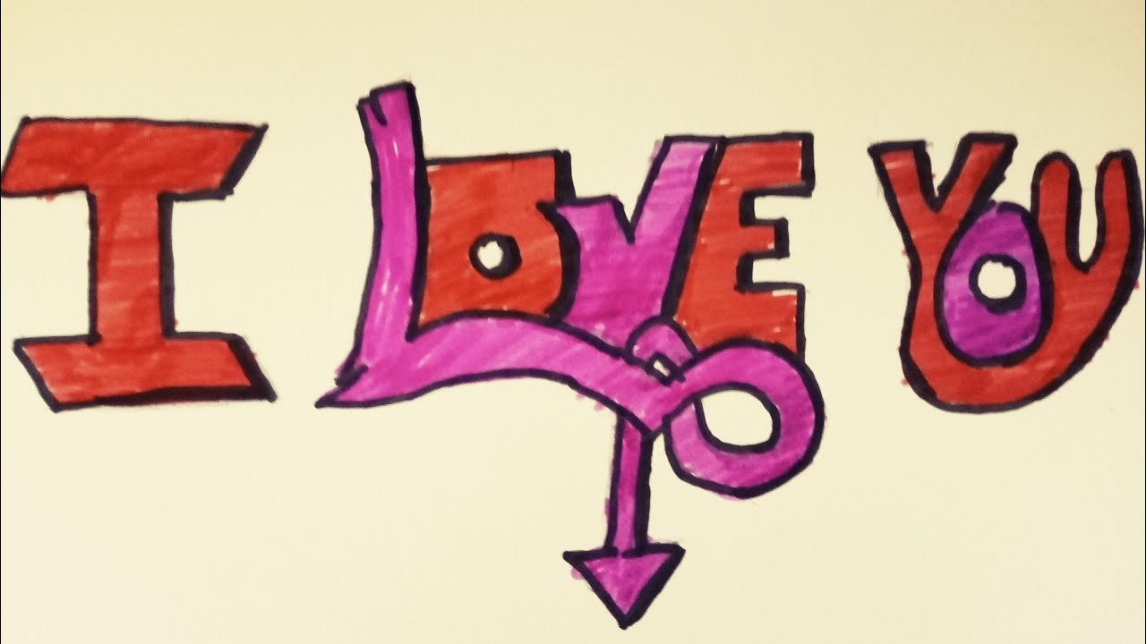 Grafiti ile i love you yazdımgrafiti nasıl yazılır