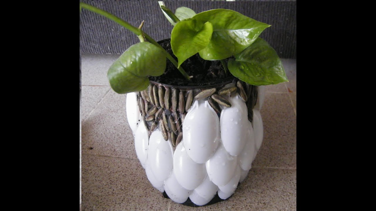 Recicla maceta con cucharas youtube - Poda de hortensias en maceta ...