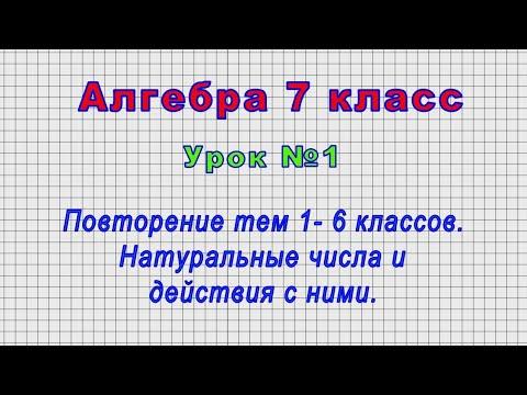 Алгебра 7 класс видеоуроки онлайн