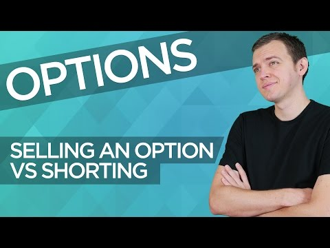 Is selling an option is same concept as short selling a stock?