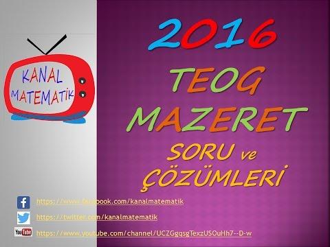 2016-2017 TEOG 1 MAZERET SINAVI SORU VE ÇÖZÜMLERİ