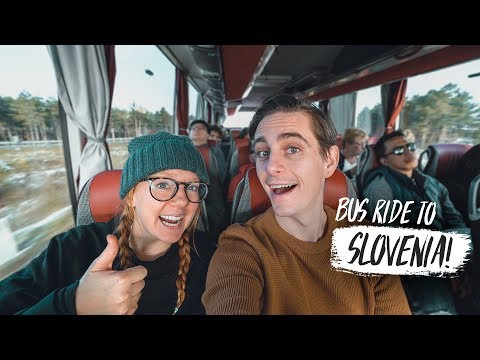 First Time in SLOVENIA! Bus Ride to Maribor + Tasting Slovenian Treats!