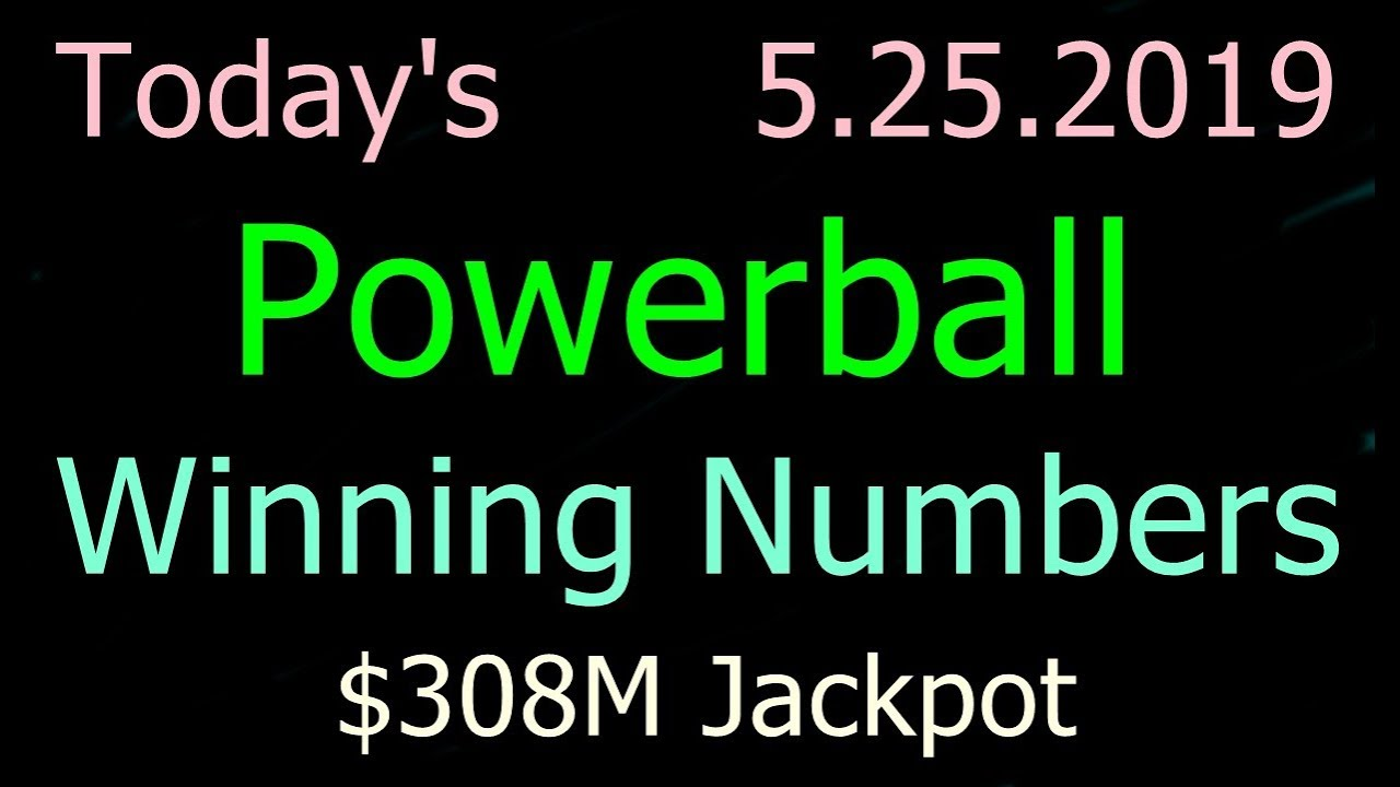 Today Powerball Winning Numbers 25 May 2019 Powerball Drawing