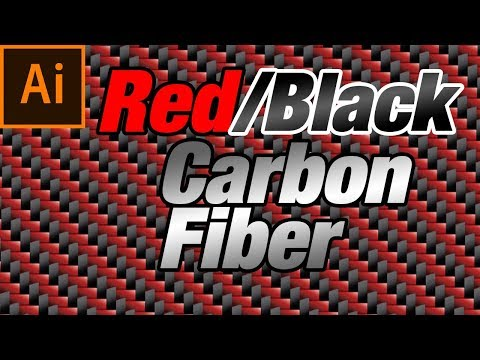 How to make Red and Black Carbon Fiber pattern in Adobe Illustrator