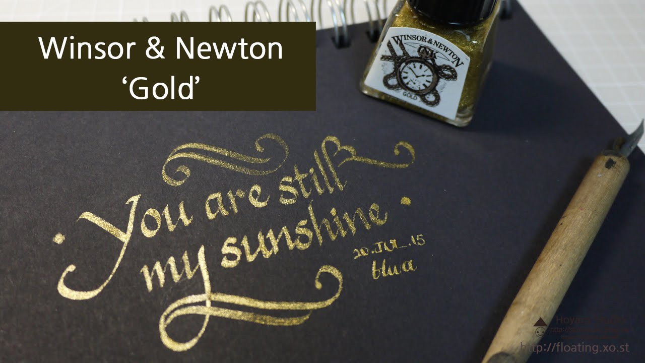 Ink Winsor Newton Gold Drawing Ink Review Writing