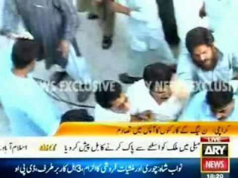 Attack on PML-N office in Karachi was a drama & was a fight between different factions
