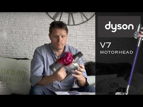 dyson v7 motorhead unboxing test aspiradora youtube. Black Bedroom Furniture Sets. Home Design Ideas