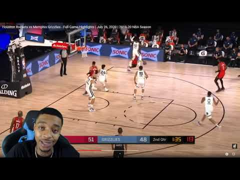 FlightReacts Houston Rockets vs Memphis Grizzlies - Full Game Highlights   July 26, 2020!