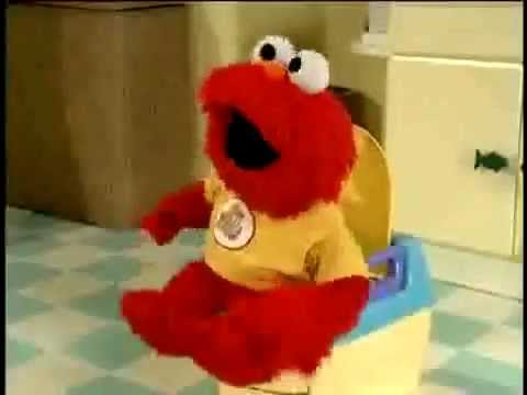 Elmo Sittin On The Toilet