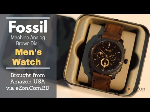 Brought Fossil Machine Chronograph Brown Dial Men's Watch From Amazon USA Via EZon.Com.Bd