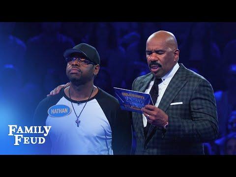 Nathan Morris & Chris Kirkpatrick Fast Money! | Celebrity Family Feud