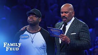 Nathan Morris & Chris Kirkpatrick Fast Money! | Celebrity Family Feud