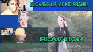 Blowing Up my Kid Prank! Reaction