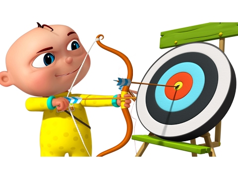 Zool Babies Playing Archery | Cartoon Animation For Children | Five Little Babies Series